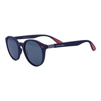 Óculos de Sol Mackage Masculino Acetato Wayfarer Redondo - Preto Polarizado