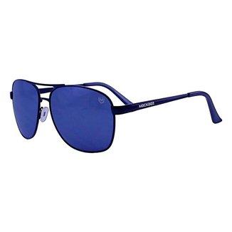 Óculos De Sol Mackage Masculino Metal Aviador - Preto/Cinza
