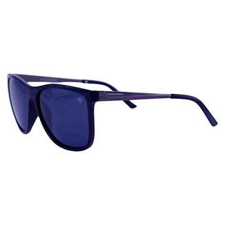 Óculos De Sol Mackage Masculino Retangular Polarizado - Preto
