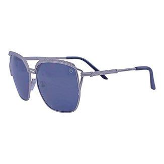 Óculos de Sol Mackage Metal Feminino Oversize Fashion - Prata
