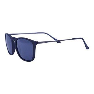 Óculos de Sol Mackage Unissex Acetato Erika Retangular - Preto Fosco