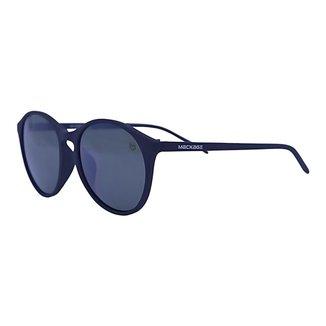 Óculos de Sol Mackage Unissex Acetato Redondo - Preto Fosco/verde