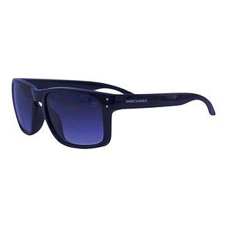 Óculos de Sol Mackage Unissex Acetato Retangular Esporte - Preto