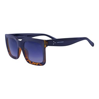 Óculos de Sol Mackage Unissex Acetato Retangular - Preto/tartaruga