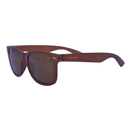 Óculos de Sol Mackage Unissex Acetato Wayfarer - Marrom Fosco