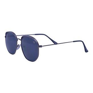 Óculos de Sol Mackage Unissex Metal Hexa - Grafite