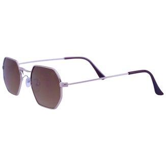 Óculos De Sol Mackage Unissex Metal Hexa Mini - Dourado