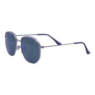 Óculos de Sol Mackage Unissex Metal Hexa - Prateado