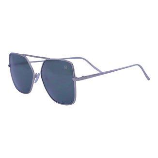 Óculos de Sol Mackage Unissex Metal Quadrado - Prata