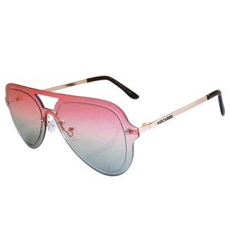 Óculos De Sol Mackage Unissex Metal Rimless - Rosa