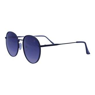 Óculos de Sol Mackage Unissex Metal Round - Preto Fosco
