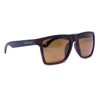 Óculos de Sol Mafiawood Exclusive Acetato Bambu Giuseppe Black Brown