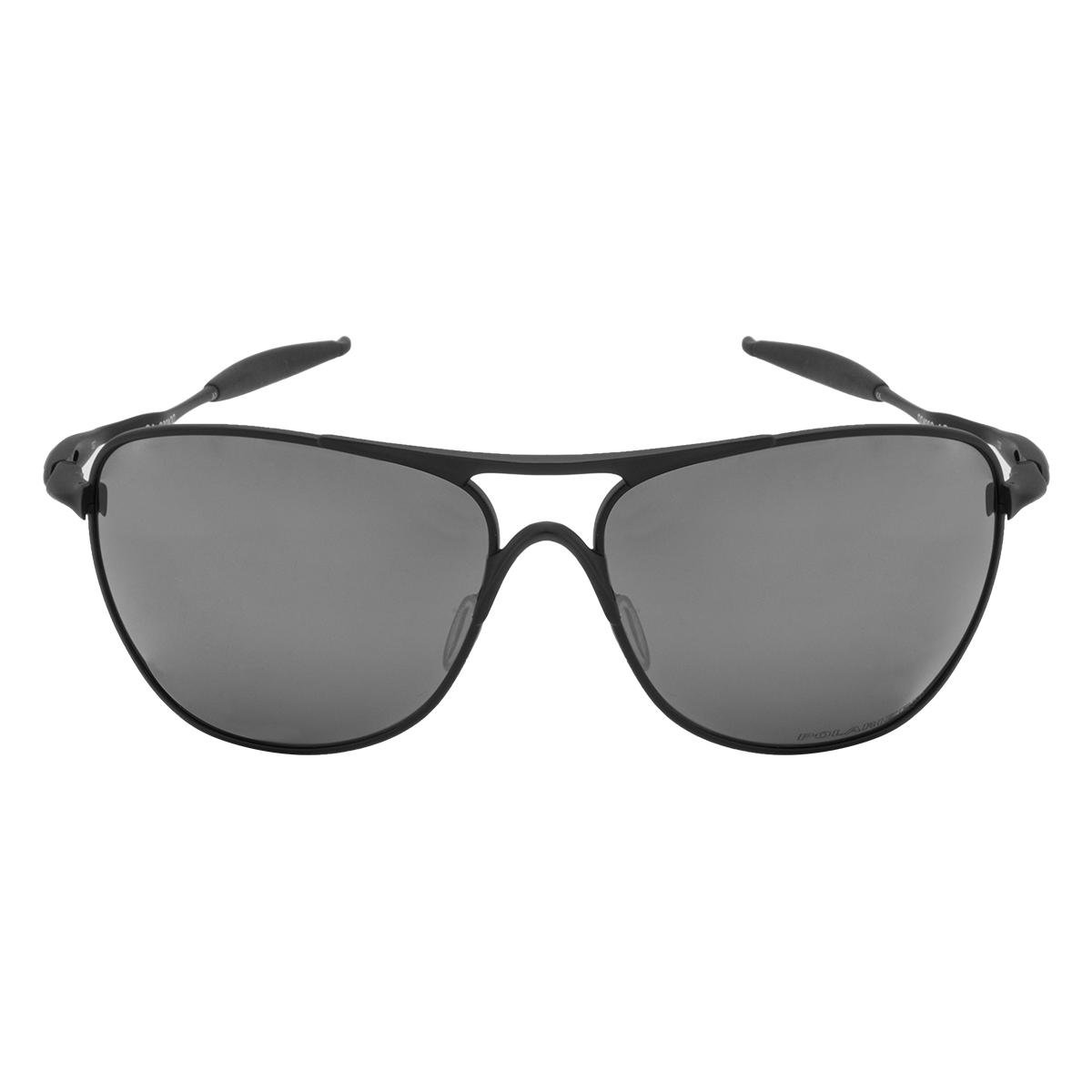Óculos de Sol Oakley Crosshair Matte Black   Black Iridium Polarized -  10 61 ... 1f13b89cb3