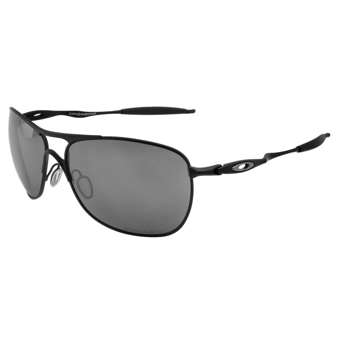 ... Óculos de Sol Oakley Crosshair Matte Black   Black Iridium Polarized -  10 61 03c2895c06