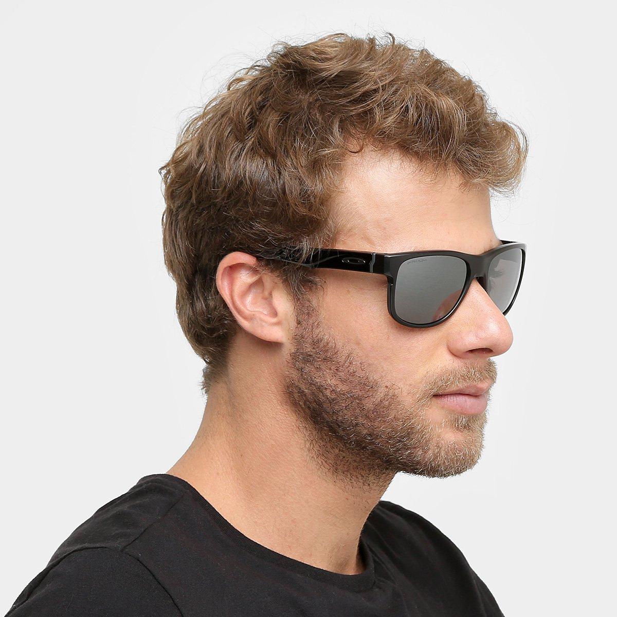 1681bb8a73434 Óculos de Sol Oakley Crossrange R Masculino - Preto - Compre Agora ...