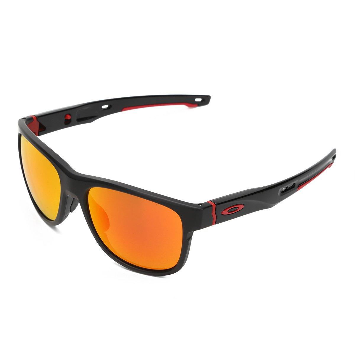 d8b1f21349a20 Óculos de Sol Oakley Crossrange R Masculino - Preto e Vermelho ...