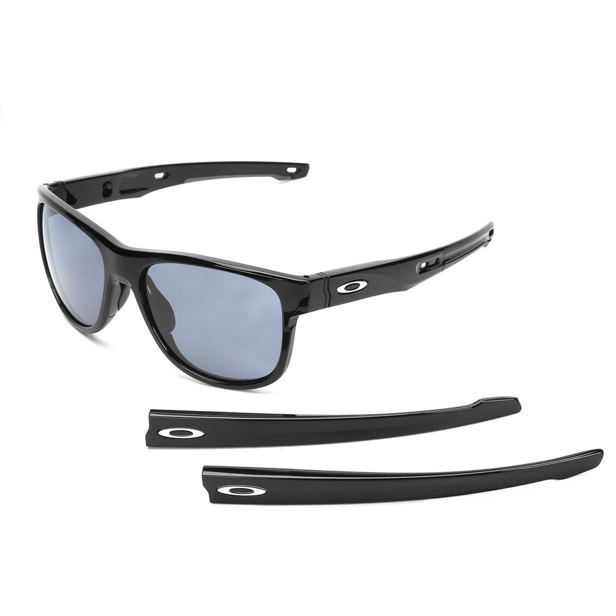3320eda00bbf0 Óculos de Sol Oakley Crossrange R Masculino - Preto e Cinza - Compre Agora