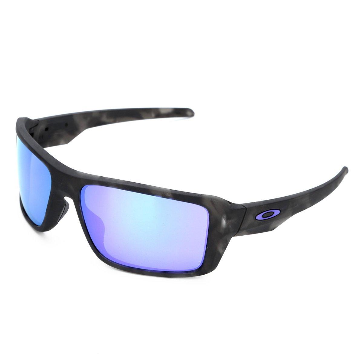 665ef7827176c Óculos de Sol Oakley Double Edge Masculino - Preto e Azul - Compre Agora