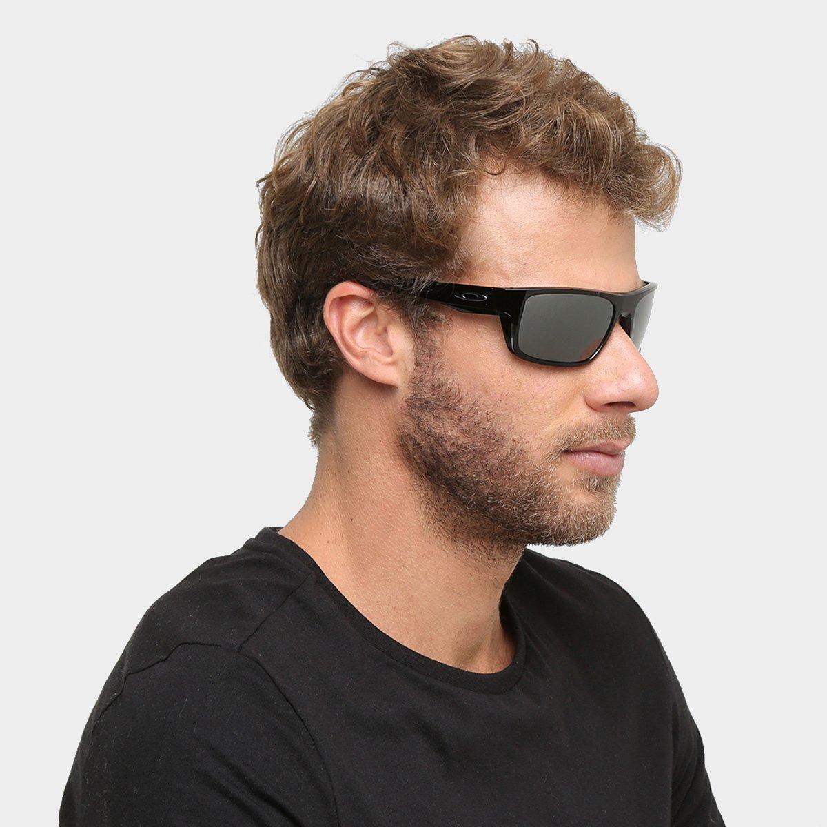Óculos de Sol Oakley Drop Point Masculino - Preto - Compre Agora ... 07dcb6aadd
