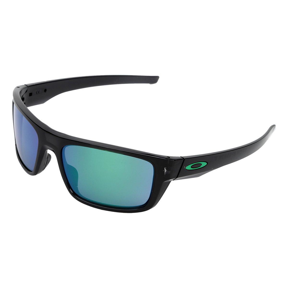 8370d912bb613 Óculos de Sol Oakley Drop Point Masculino - Preto e verde - Compre Agora
