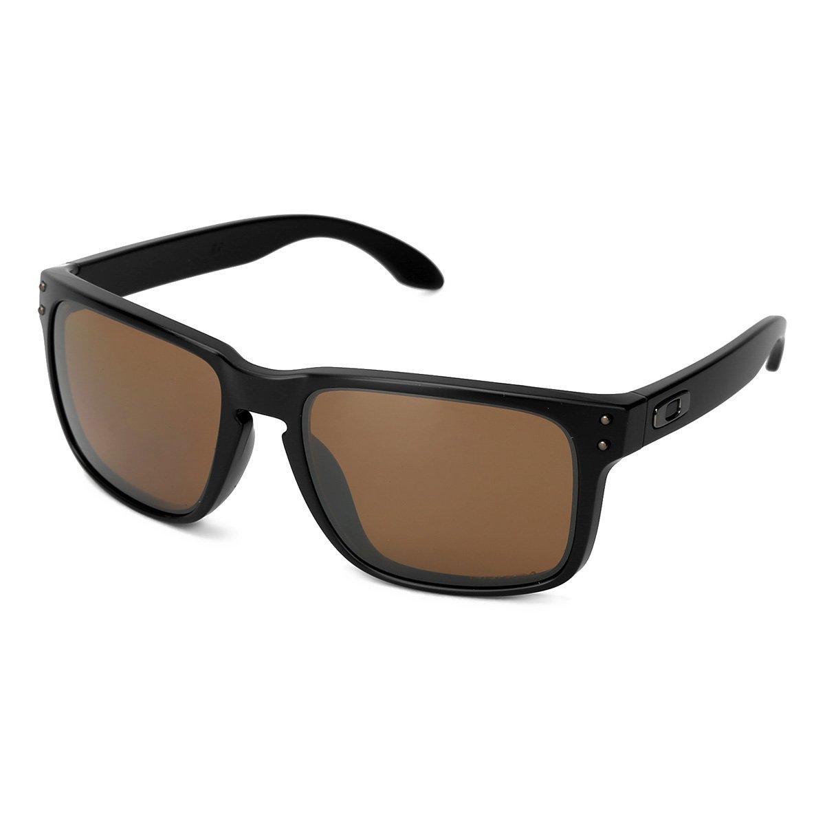 d695528ee160c Óculos de Sol Oakley Holbrook Masculino - Marrom e Preto - Compre Agora