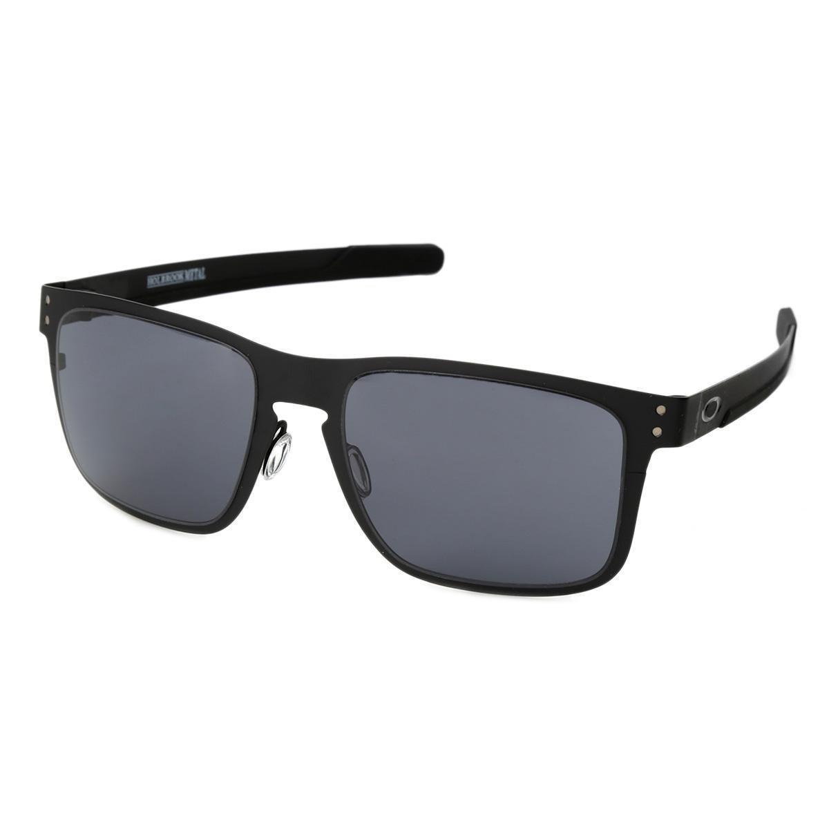 Óculos de Sol Oakley Holbrook Metal Masculino - Cinza - Compre Agora ... 3e8e33ed44