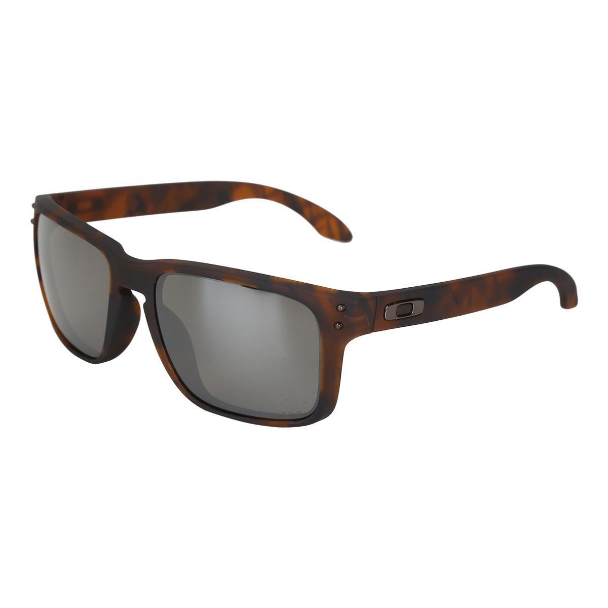 d2322beb9f8a8 Óculos de Sol Oakley Holbrook Prizm Tartaruga Masculino - Compre Agora