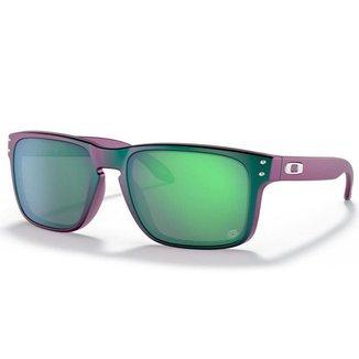 Óculos de Sol Oakley Holbrook Troy Lee Designs Matte Purple Green Shift W/ Prizm Jade