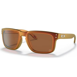 Óculos de Sol Oakley Holbrook Troy Lee Designs Red Gold Shift W/ Prizm Bronze
