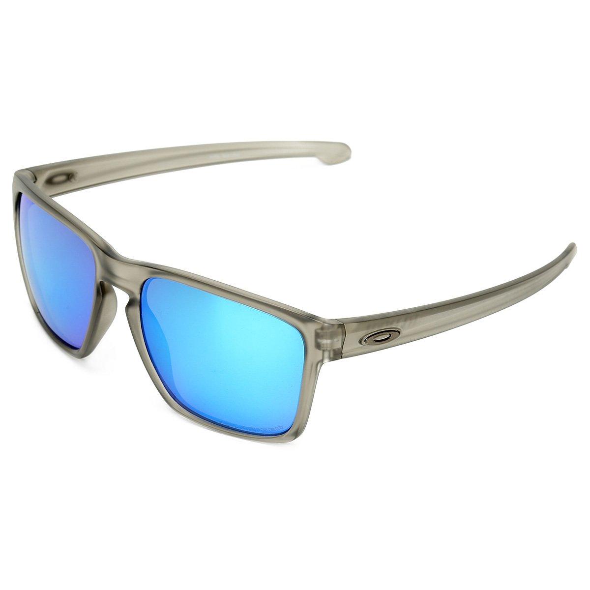 e4730c8ac5b5d Óculos de Sol Oakley Sliver Xl Masculino - Cinza e Azul - Compre Agora
