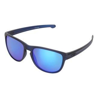Óculos De Sol Oakley Translucent Silver Masculino