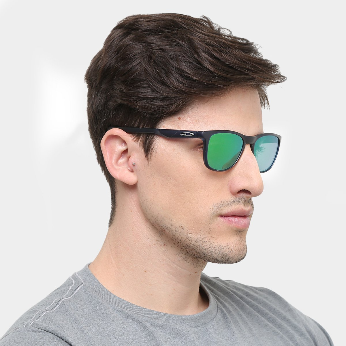 459d5eb3dd7917 Óculos de Sol Oakley Trillbe X Masculino - Azul - Compre Agora ...