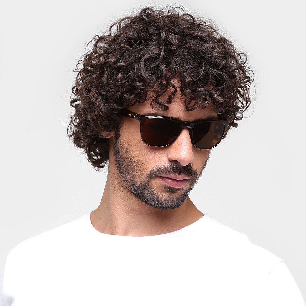aff244a91168d Óculos de Sol Oakley Trillbe X Masculino - Marrom - Compre Agora ...