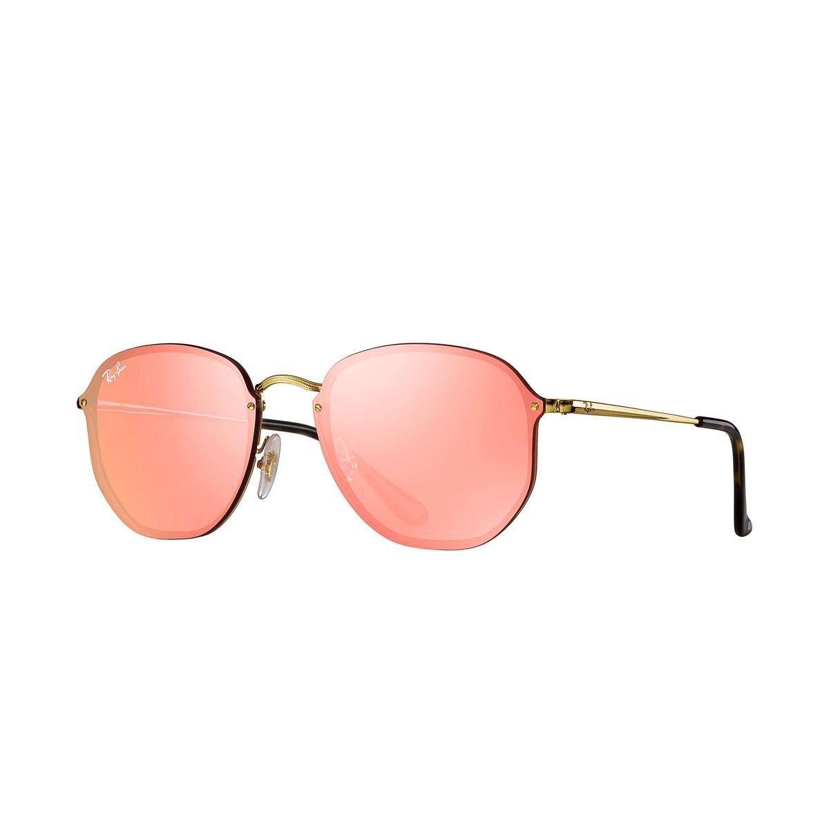 Óculos de Sol Ray-Ban Blaze Hexagonal - Dourado - Compre Agora ... 31786e9f78