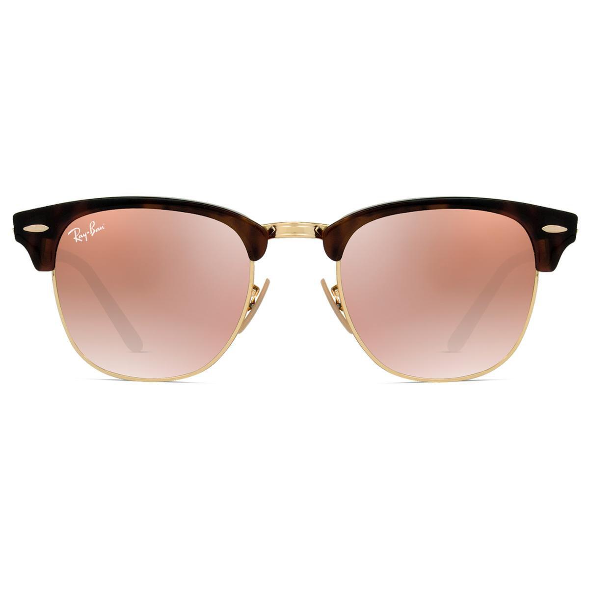 077088f183dfc Óculos de Sol Ray Ban Clubmaster Flash RB3016 990 7O-51 Feminino - Onça - Compre  Agora