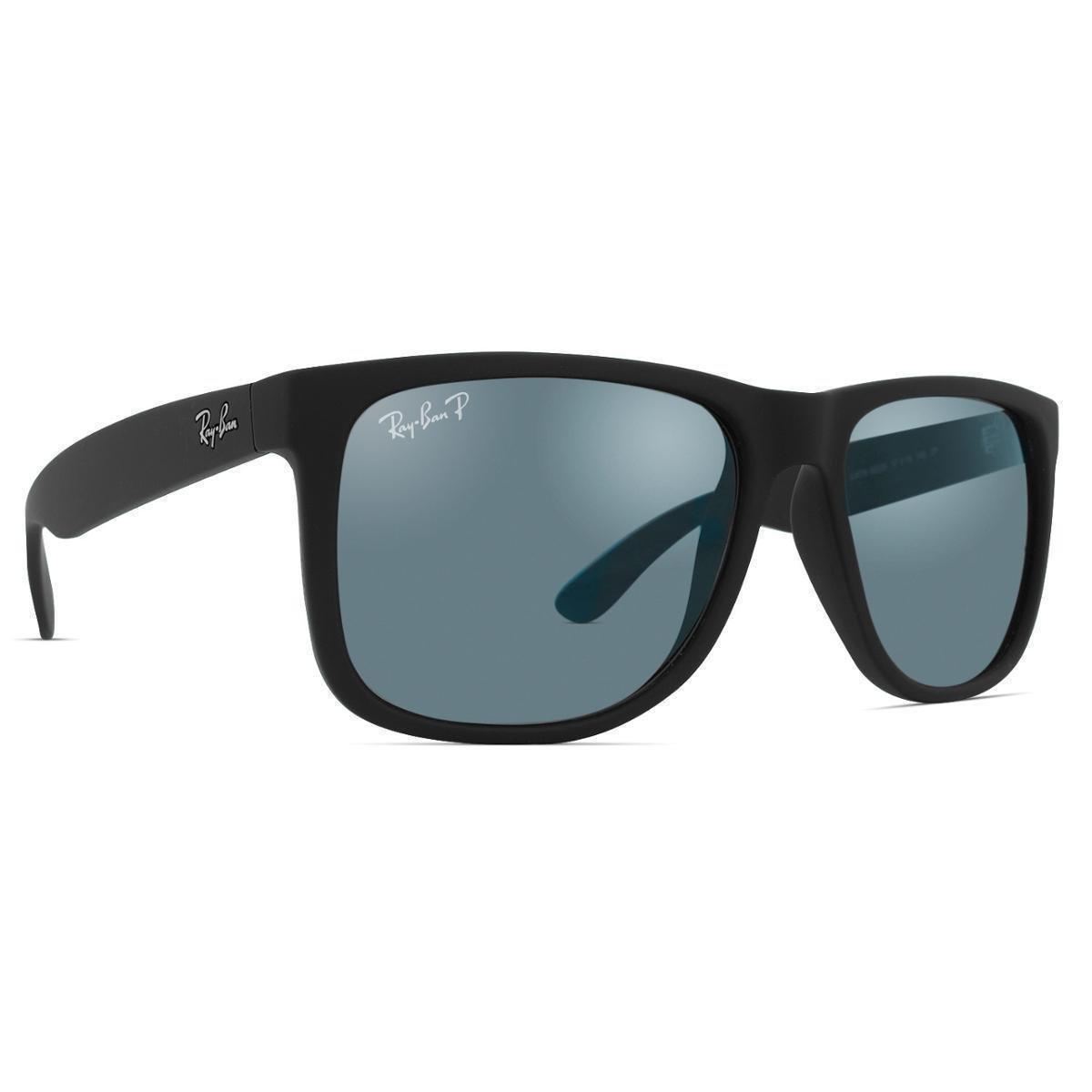 Óculos de Sol Ray Ban Justin Polarizado RB4165L 622 T3 - Preto ... fd0d124579