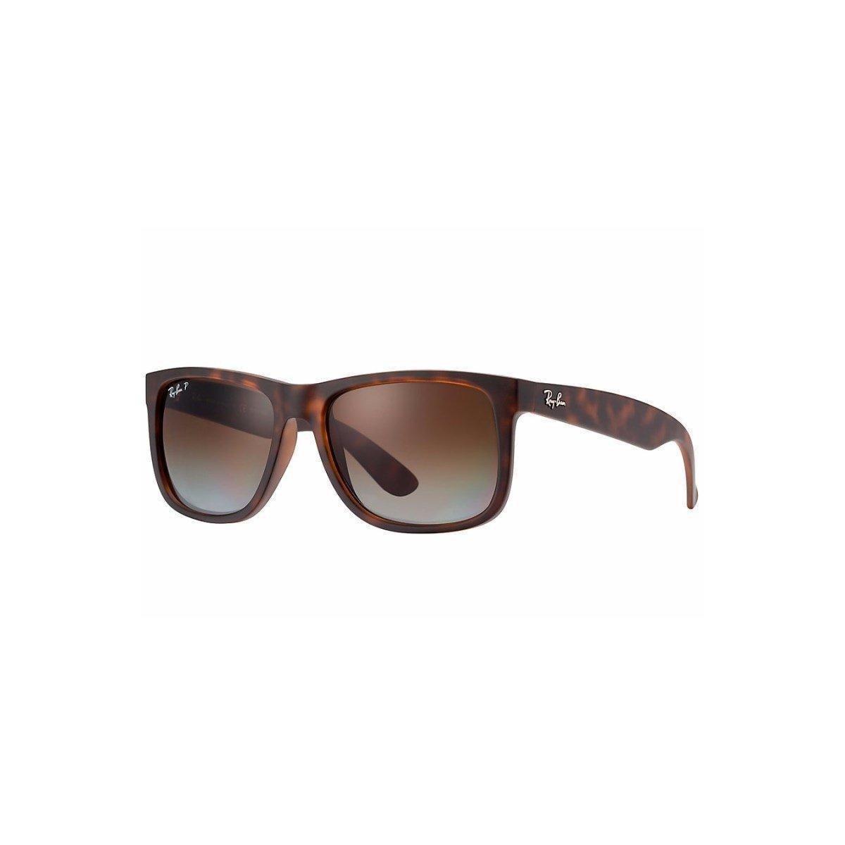 Óculos de Sol Ray Ban Justin Polarizado - Marrom - Compre Agora ... 2f7b6da345