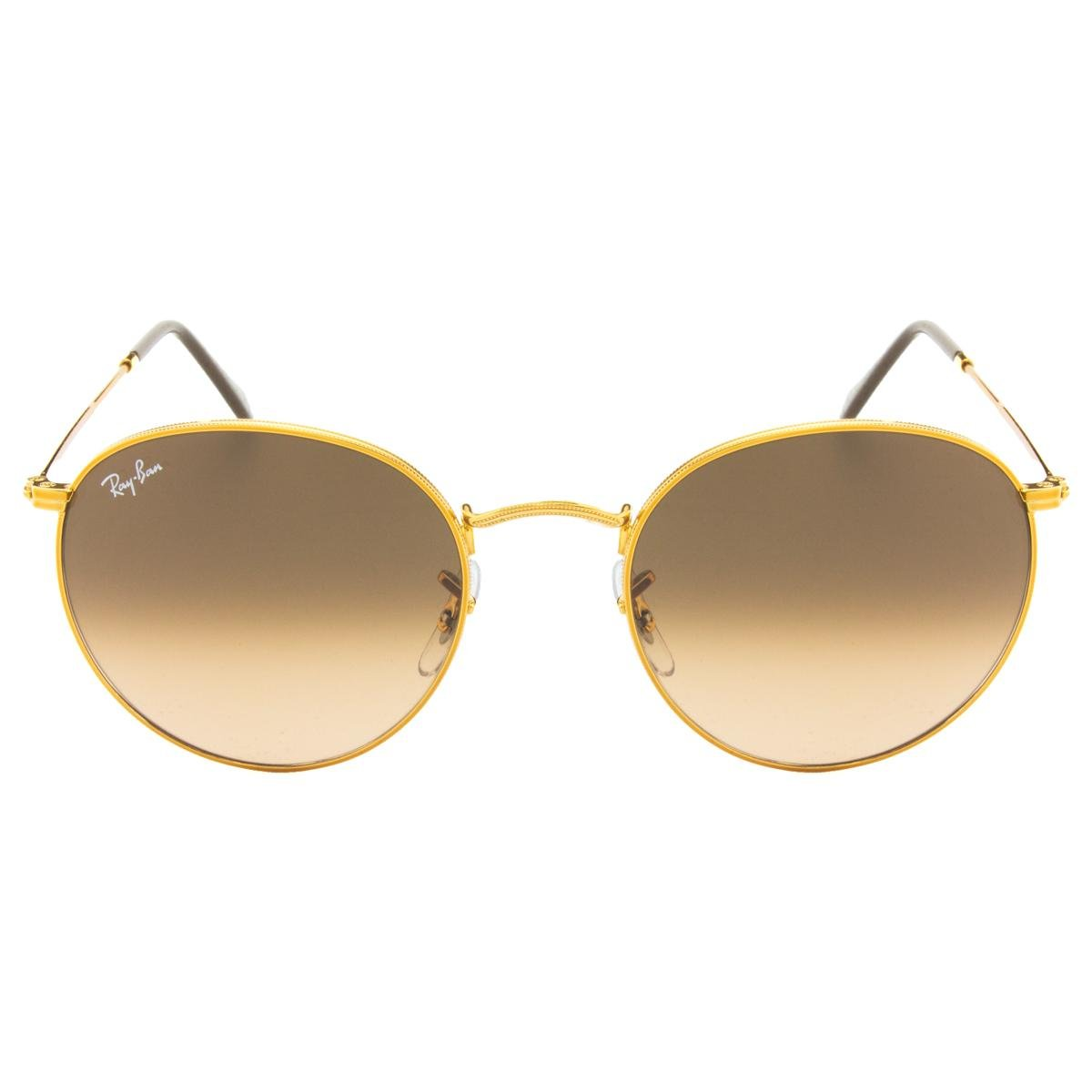 d182bad8e3d1b Óculos de Sol Ray-Ban Round Evolve RB3447 - 9065-V7 53 - Dourado e Marrom - Compre  Agora