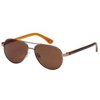 Óculos de Sol Tigor T Tigre STT084 C04/49 Marrom/Laranja
