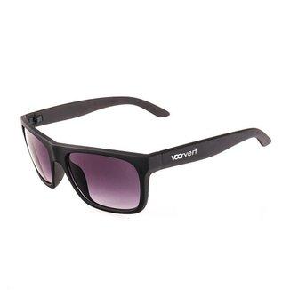 Óculos de Sol Voor Vert Preto Fosco Retangular - VVOCSGP209-1