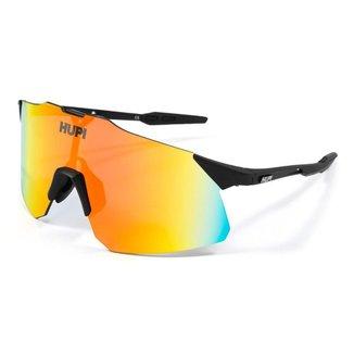 Óculos Esportivo HUPI Ciclismo com Proteção UV Angliru Preto Lente Vermelho Espelhado Unissex