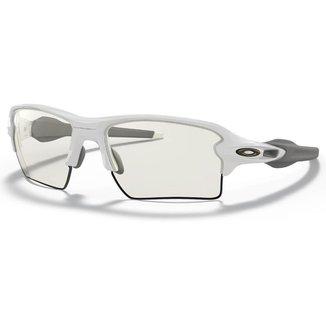 Óculos Esportivo Oakley Flak 2.0 Polished White Clear