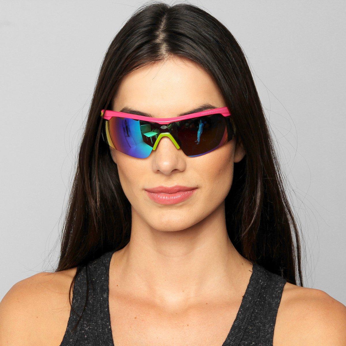 Óculos Mormaii Athlon 2 - Rosa e Verde - Compre Agora   Netshoes 7d19234163