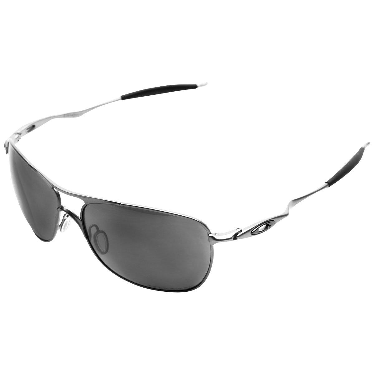 Armação Para óculos De Grau Oakley Crosshair Prata C Preto   Caba ... ed74d39d8e