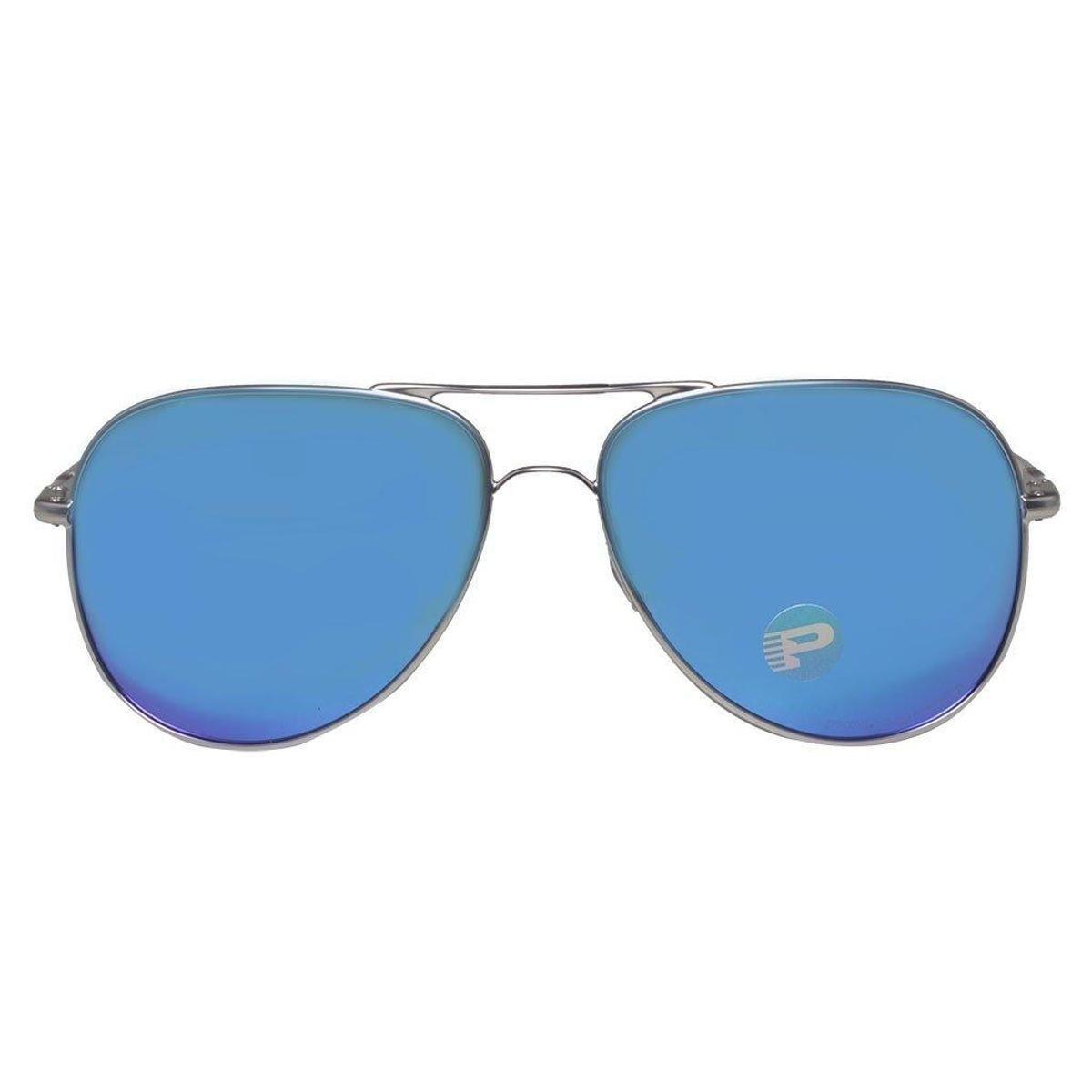 Óculos Oakley Elmont L Stn Chrome Sapph Iridium Polarizado - Compre ... 10321041ba