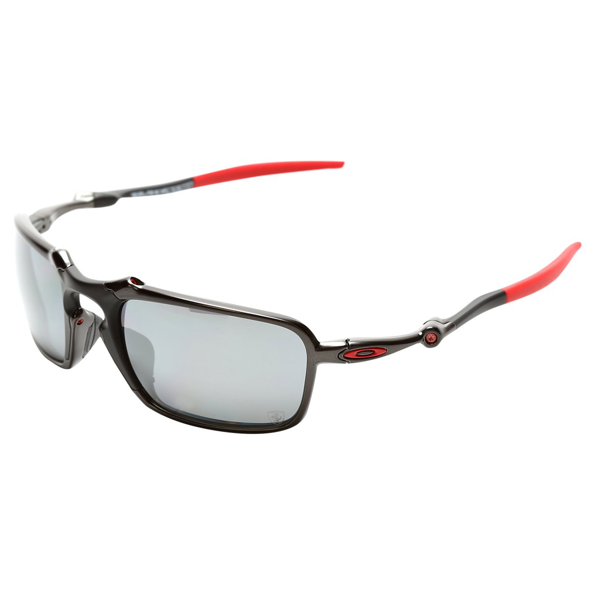 Óculos oakley ferrari badman dark carbon iridium polarizado