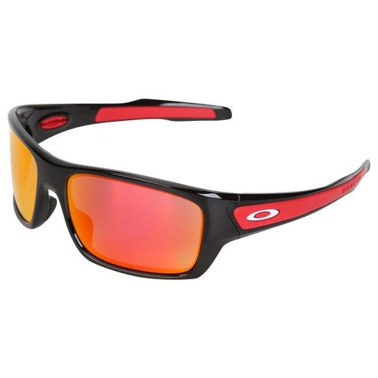 Óculos Oakley Ferrari Turbine Ruby Iridium - Preto+Vermelho