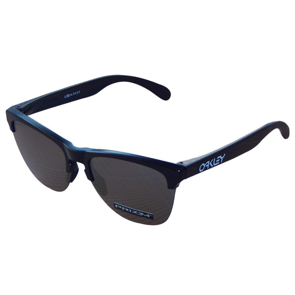 b55cbdbfeb973 Óculos Oakley Frogskins Lite Polished Black  Lente Prizm Black Iridium - Compre  Agora