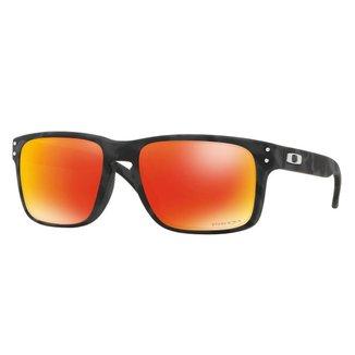 Óculos Oakley Holbrook Black Camo/ Lente Prizm Ruby