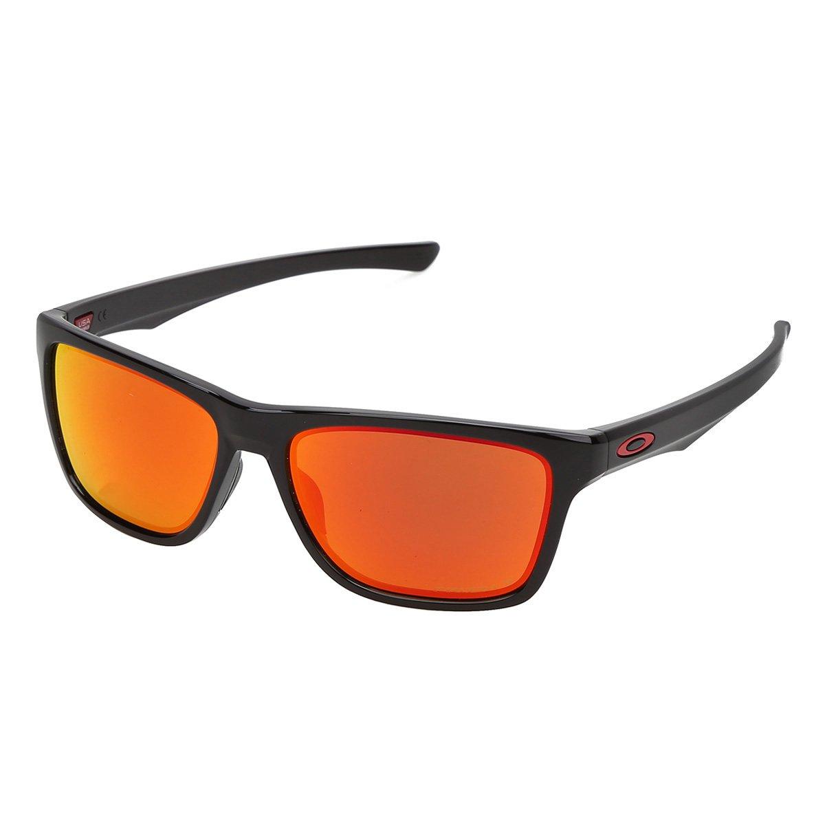 79efcef14307d Óculos Oakley Holston Polished Polarized 0OO9334-12 Masculino - Preto e  Laranja - Compre Agora